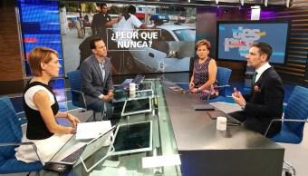 Isabel Miranda y Francisco Rivas en la mesa de Despierta con Loret