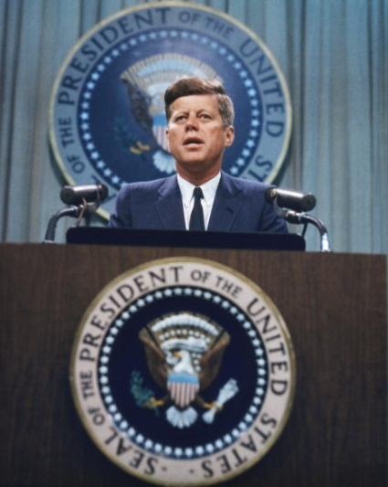El presidente de EU, John F. Kennedy (1917-1963) (Getty Images)