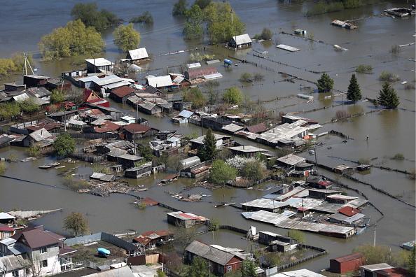Inundacion afecta a una localidad de Rusia