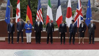 Los líderes del G7 durante la cumbre en Taormina, Italia