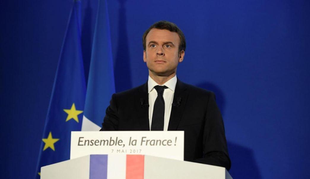 Emmanuel Macron, de 39 años, fue elegido este domingo presidente de Francia (Reuters)