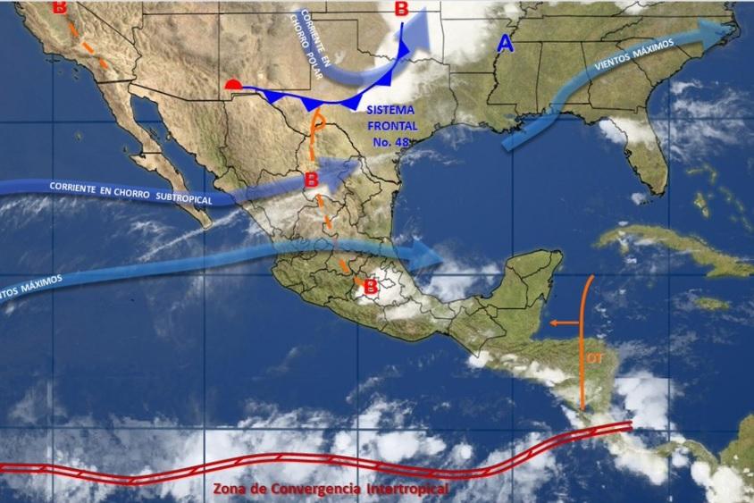 El SMN precisó que en la Península de Baja California habrá cielo parcialmente nublado (Twitter @conagua_clima)