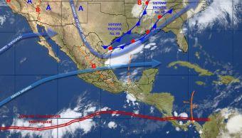 mapa con el clima de este 24 de mayo