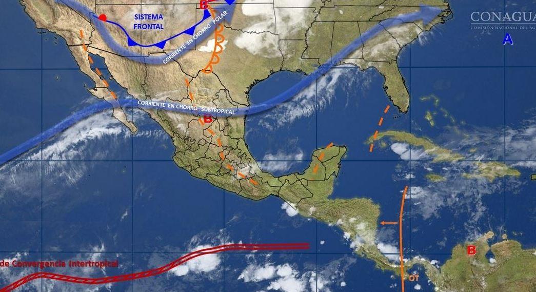 mapa con el clima para este 19 de mayo