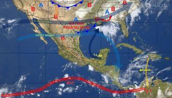 mapa con el clima para este 23 de mayo