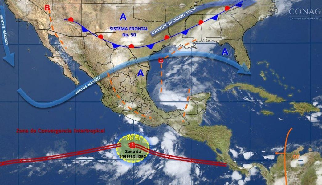 mapa con el clima para este 30 de mayo