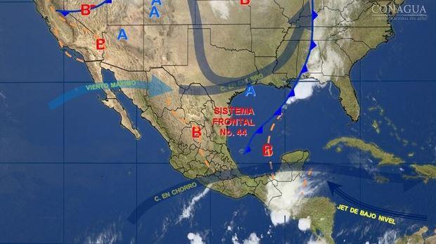 Mapa con el pronóstico del clima para este 1 de mayo