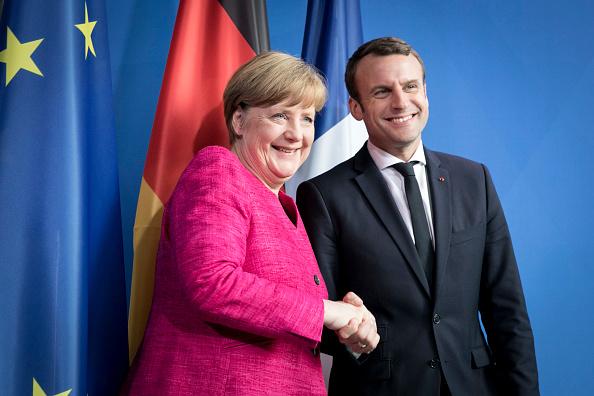 Macron y Merkel sostienen una reunión en Berlin