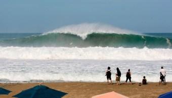 Playa de Zicatela y olas gigantes