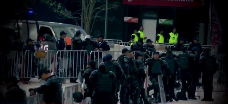 Operativo de seguridad en estadio de Monterrey por partido de futbol