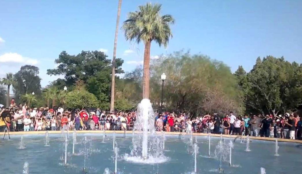 Fuentes danzantes del Parque Madero de Sonora