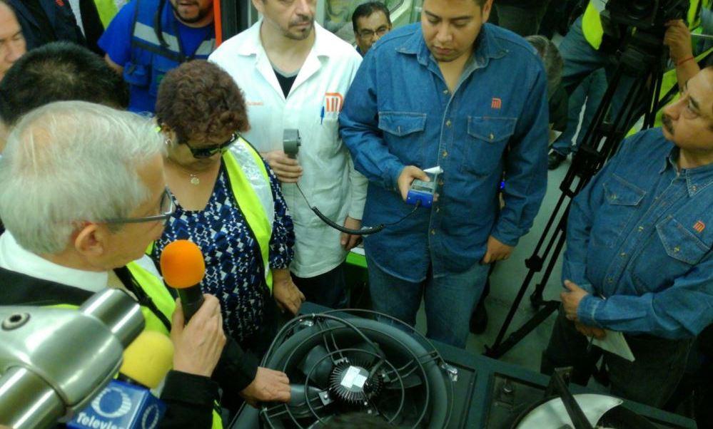 presentan el nuevo sistema de ventilacion edel metro