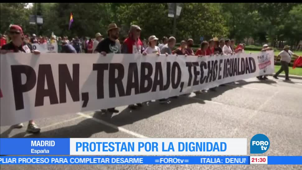 Protesta, dignidad, Madrid, España, manifestacion, trabajo
