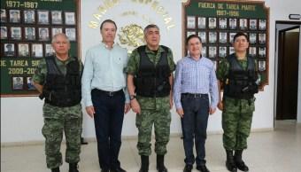 Reunión del Grupo de Coordinación de Seguridad Sinaloa-Durango en Badiraguato. (Twitter @gobsinaloa)