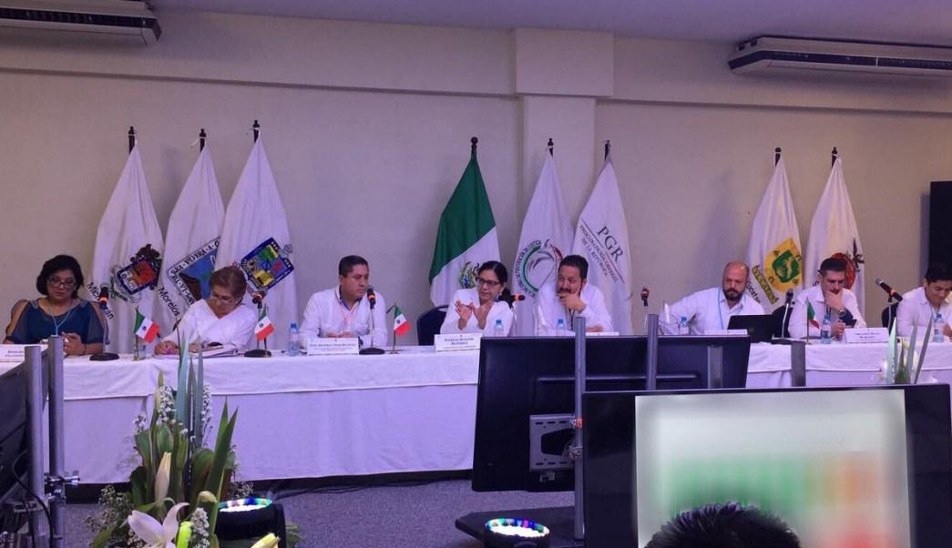 Reunión de fiscales antisecuestro en Cancún. (Twitter @BugarinPatricia)