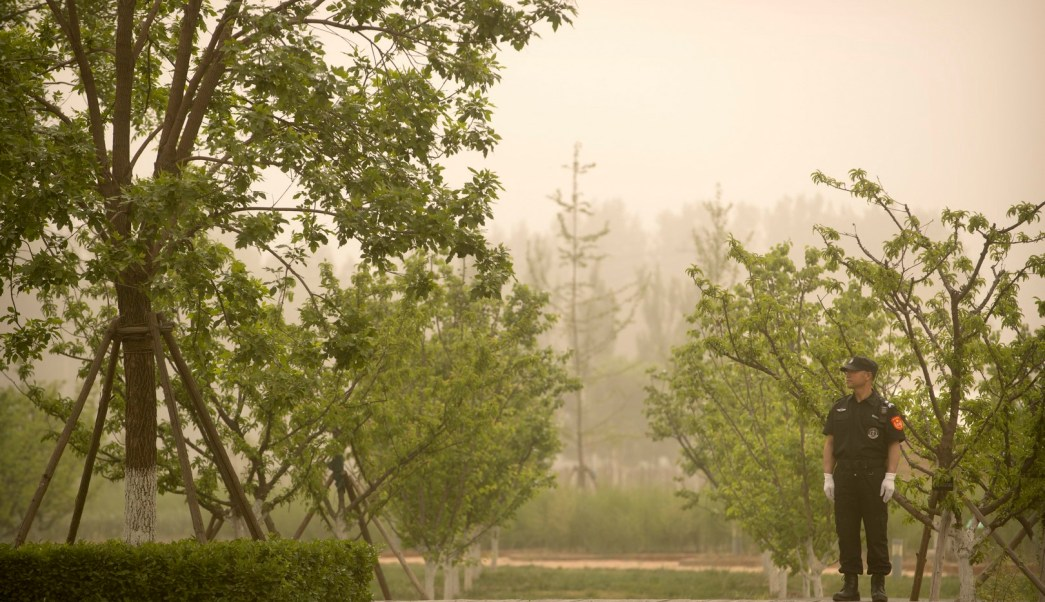 tormenta de arena asfixia centro y norte de China. (AP)