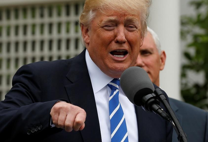 El presidente de Estados Unidos, Donald Trump en la Casa Blanca en Washington (Reuters)
