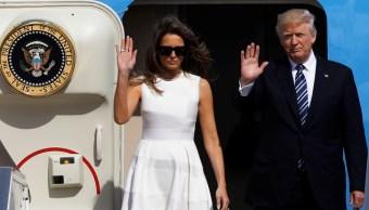 Donald Trump y su esposa Melania se despiden de Tel Aviv para viajar a Roma (Reuters)