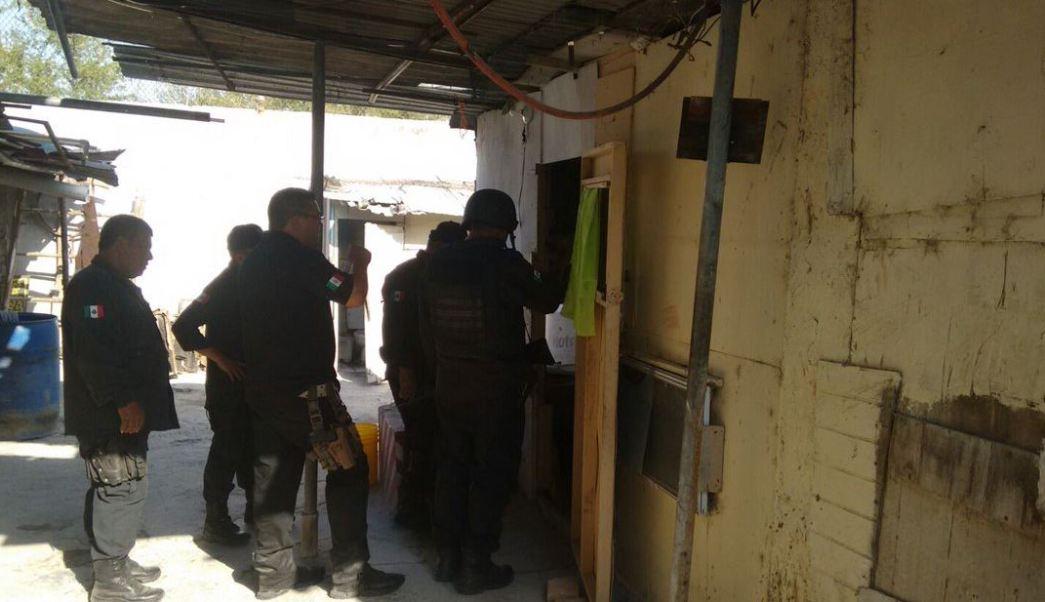El túnel inconcluso iniciaba en una vivienda (SSP Tamaulipas)
