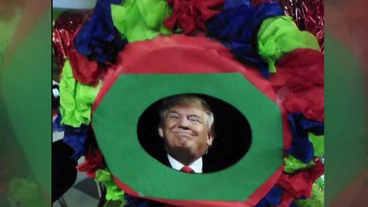 Cierran secundaria de EU tras amenazas por romper piñata de Trump