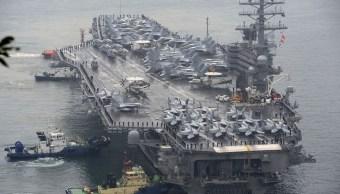 EU, portaaviones, peninsula de corea, tensión con pyongyang, marina, portaaviones uss ronald reagan
