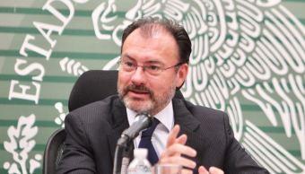 Videgaray pide a EU resolver la demanda de drogas en su país (Twitter @imatiasromero)