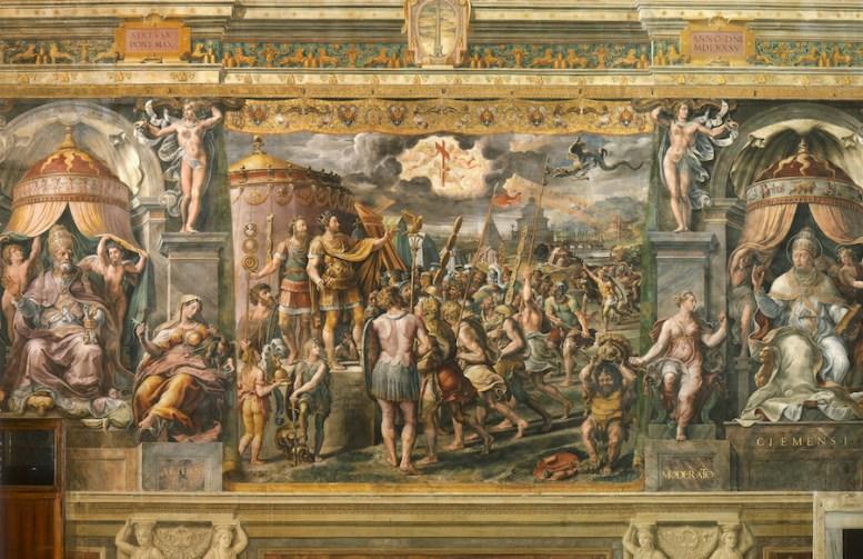 aparición de la cruz, Giulio Romano, Museos Vaticanos, Día de la Santa Cruz