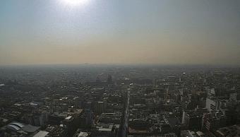 Vista panorámica de la CDMX en contingencia ambiental