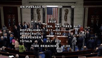 Camara de Representantes aprueban ley salud Trump
