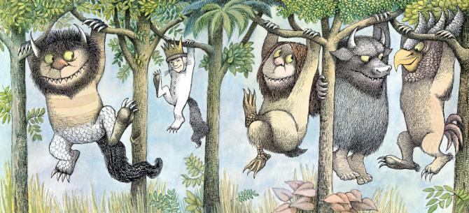 Maurice Sendak, where the wild things are, monstruos