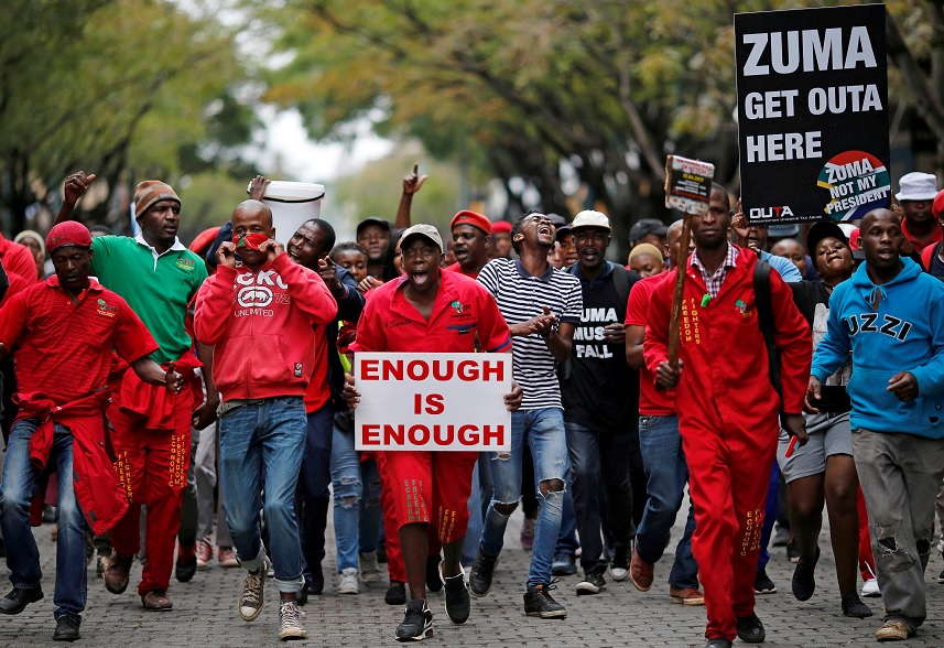 Cancelan discurso del presidente Zuma por protestas (Reuters)Cancelan discurso del presidente Zuma por protestas (Reuters)