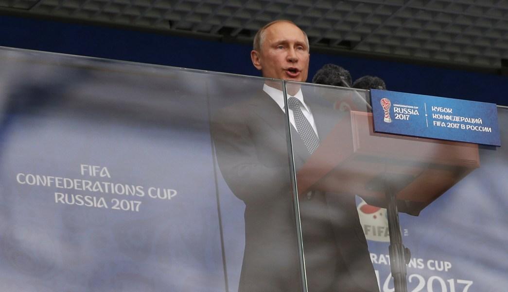 Presidente de Rusia, Vladímir Putin, Copa Confederaciones, partido inaugural