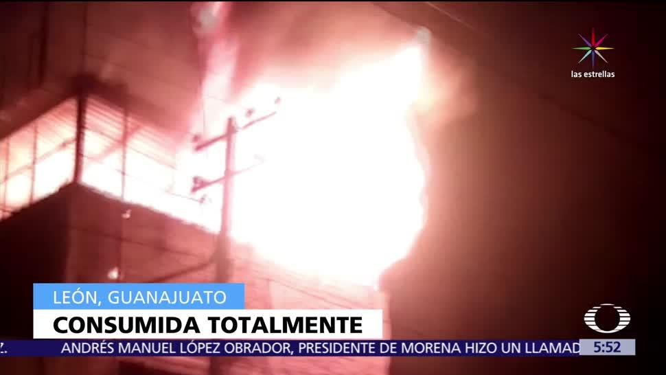 León, Guanajuato, chispa de soldadura, material flamable, incendio