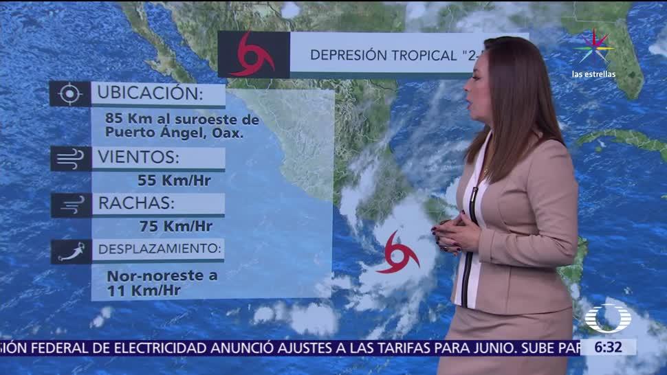 depresión tropical 2-E, Pacífico mexicano, desprendimientos nubosos, tormentas