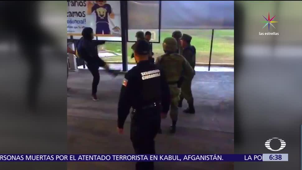 Sedena, agresión de estudiantes, soldado, Facultad de Estudios Superiores, Acatlán