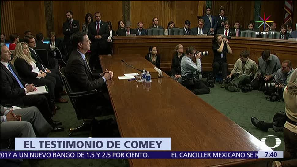 James Comey, exdirector del FBI, Senado de EU, Trump, Michael Flynn