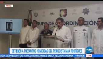 Erasmo Alamilla, procurador de Baja California Sur, detención, presuntos homicidas, periodista Max Rodriguez