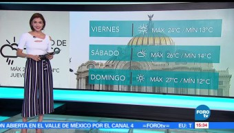 noticias, forotv, El Clima, Daniela Álvarez, tormenta tripical, clima