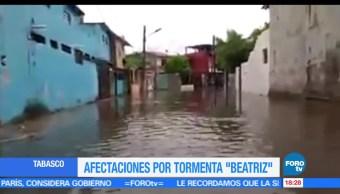 noticias, forotv, Afectaciones, Beatriz, Tabasco, lluvias