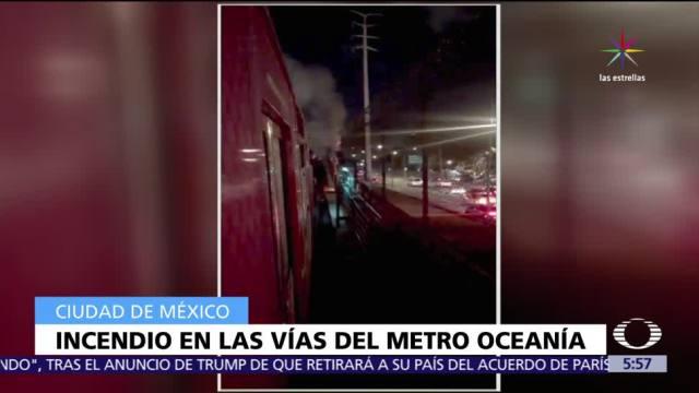 incendia, basura, Línea B, Metro