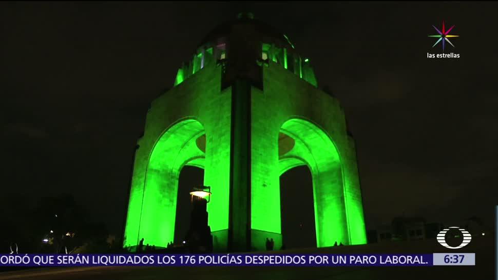 Monumentos, CDMX, iluminan, cambio climático