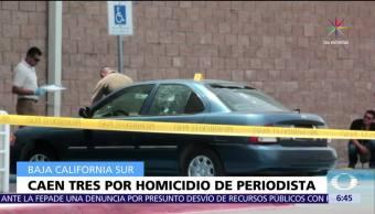 Detienen, 3 presuntos homicidas, Max Rodríguez, periodista