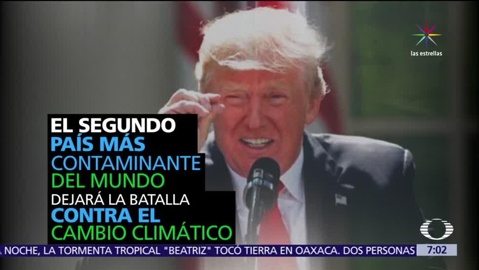 Donald Trump, retirar, Estados Unidos, Acuerdo Climático de París