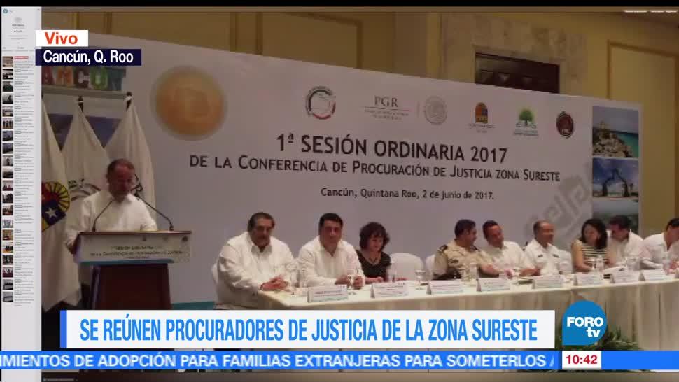 reúnen, procuradores, justicia, zona sureste de México