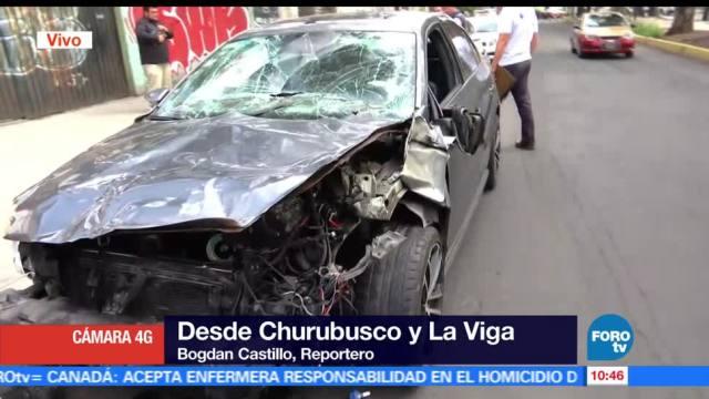 Chocan, seis autos, Churubusco, La Viga