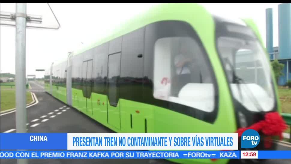 China, presenta, trenes, no contaminantes