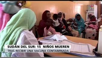 Vacuna, contaminadas, sarampión, Sudán, salud, niños