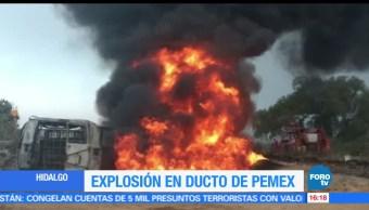 robo de gasolina, provoca, Explosión, ducto, Pemex, Hidalgo