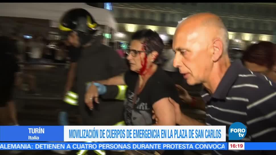 Movilización, por explosión, petardo, emergencia, Plaza de San Carlos, Turin