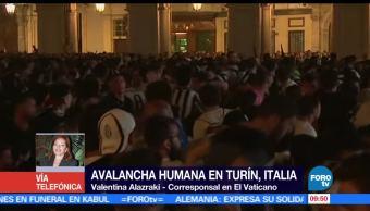 falsa alerta de bomba, estampida humana, heridos, Italia